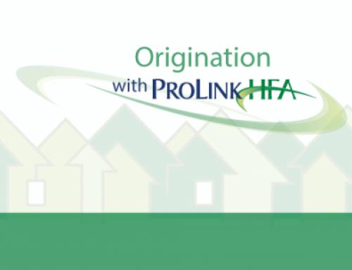 Origination with ProLinkHFA