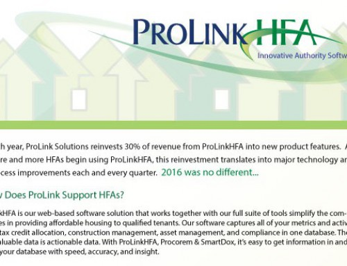 ProLinkHFA Software Updates in 2016