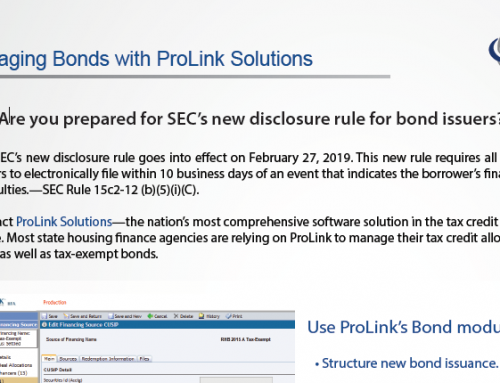 Managing Bonds with ProLink Solutions